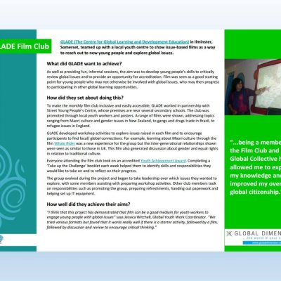 Image of 'GLADE Film Club' case study'