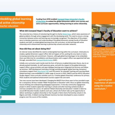 Image of 'Embedding global learning' case study