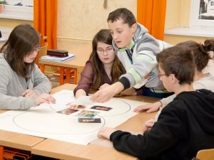 Image of pupils in Czech Republic doing an audit activity